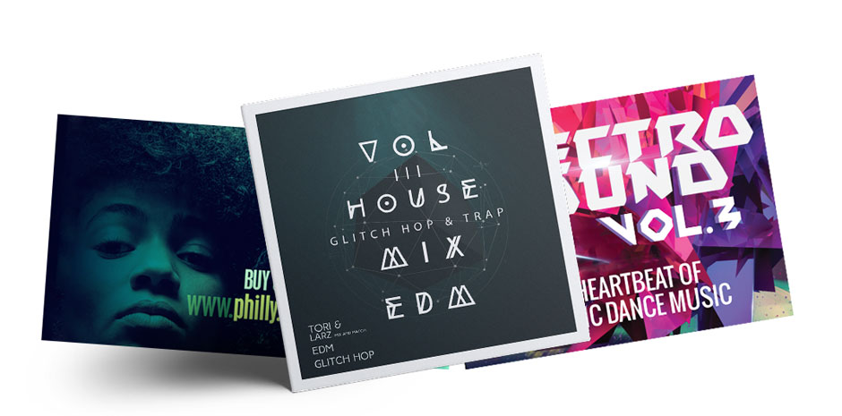 artist album release branding package