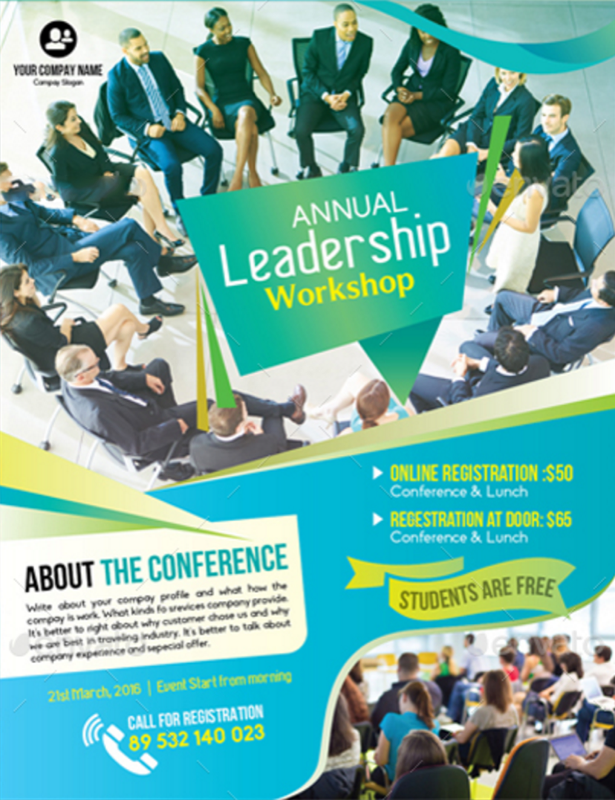 Flyer Design 20 KickAss Concepts for Events and Business – Seminar Flyer